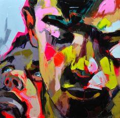 """Françoise Nielly """"Sans Titre"""" 2012 110 x 110 cm Huile sur toile"""