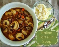 Italian Tortellini Soup is hearty and warm but not heavy. Perfect for Fall or any time of year.