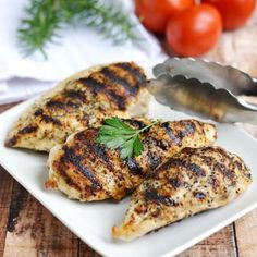 Grilled Chicken Breasts - Easy Grill Pan Method - A Pinch of Healthy--If using chicken tenders only bake for 10 min Healthy Cooking, Healthy Snacks, Healthy Recipes, Healthy Eating, Grilling Recipes, Cooking Recipes, Cooking Tips, Best Chicken Recipes, Recipe Chicken