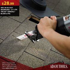"""Now available at Adam tools with great price MILWAUKEE - 12"""" 5 TPI THE AX™ SAWZALL® BLADE (5 PK) Visit our website for more information and special offers ...  https://www.adam-tools.com/milwaukee-12-5-tpi-the-axtm-sawzallr-blade-5-pk.html #canada #mississuaga #power_tools #building_supplies #adamtools #shop_online #buy_online #Powertools #tools #Sawzall #MILWAUKEE"""