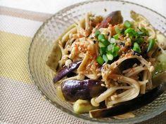 レンジで簡単!エノキとナスの中華風サラダの画像