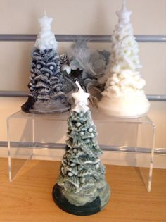 Christmas Tree Candles in 3 designs Xmas by artofcandles on Etsy