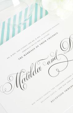 Angelic Script #wedding invitations from Shine Wedding Invitations