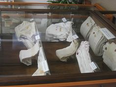Bed linens, hankerchiefs and clothes that were stained with blood from Gemma's stigmata