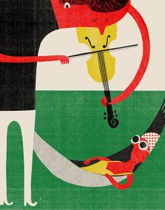Editorial illustration by Catarina Sobral, via Behance