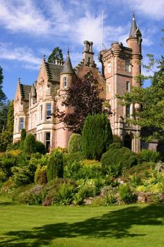 House of Aigas, Scotland, a small castle with the oldest part built in1760 and replaced an even older house.