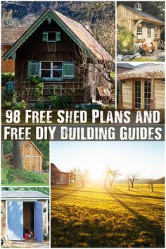 98 Free Shed Plans and Free Do It Yourself Building Guides - These beautiful sheds range from small, easy to build to huge, more complicated designs. Great if you know what you are doing and great if you don't. I think these plans could all be modified to add your own spin to the design.
