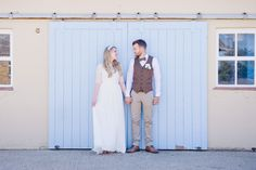 Wedding of the Week: Kirsty Dunn and Simon Dicker | A country farm theme suited this wedding in rural Essex, which featured faux flowers, tweed waistcoats and wooden pallets.