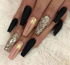 Matte Black Nude with Chrome Effect and Glitter on long Coffin Nails – Estella K. Matte Black Nude with Chrome Effect and Glitter on long Coffin Nails – Stylish Nails, Trendy Nails, Matte Nails, Gel Nails, Stiletto Nails, Pointed Nails, Manicures, Nail Polish, Acrylic Nail Designs