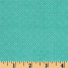 Riley Blake Hello Gorgeous Diamond Mint from @fabricdotcom  Designed by my Mind's Eye for Riley Blake Designs, this cotton print collection combines shabby chic with modern colorways and patterns. Perfect for quilting, apparel, and home decor accents. Colors include shades of teal.