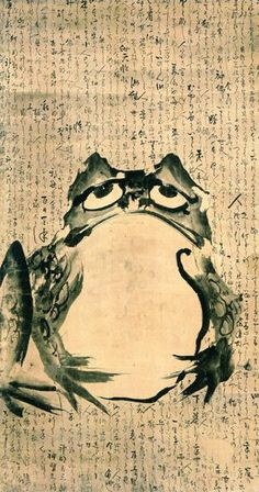 Frog and Mouse by Getsuju Japan, late 18th-early 19th century, Japan. 90.3 x 167.8cm Ink on paper Kaikodo