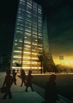 Perspective 3D d'extérieur - Concours d'Architecture