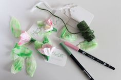 DIY - Paper Flower Name Badges