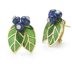Large Blueberry Earrings, 18Kt (335.410 RUB) ❤ liked on Polyvore featuring jewelry, earrings and earring jewelry