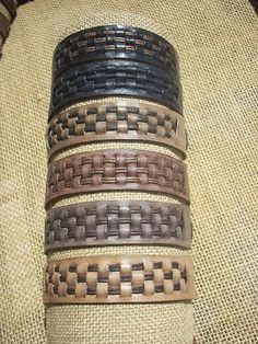 Leather bracelets by Katakali, via Flickr