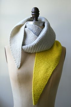 color tipped scarf - the purl bee.