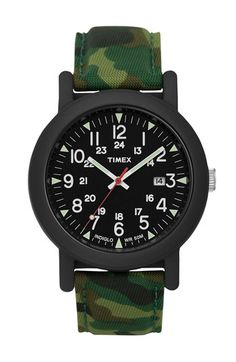Men's Wrist Watches - Timex Mens Camper Resin Case Black INDIGLO Dial Camouflage Leather Strap Watch >>> You can get more details by clicking on the image. Field Watches, Sport Watches, Bulova, Camouflage, Durable Watches, Timex Watches, Wrist Watches, Men's Watches, Best Watches For Men