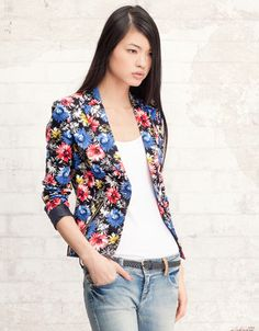 Stradivarius Flower Jacket. Next time I'm in Italy I am so shopping here.