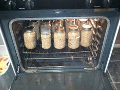 Oven canning, Canning food preservation, Canning recipes, Canning Canned food, Canning tips - How to Can Dry Goods in the Oven - Home Canning Recipes, Canning Tips, Cooking Recipes, Oven Recipes, Canning Food Preservation, Preserving Food, Canning Vegetables, Oven Canning, Canning Water