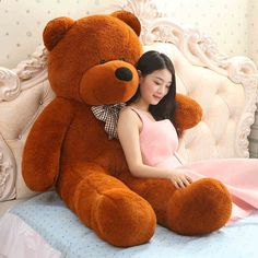 Big Giant teddy bear huge plush toys kids big stuffed soft toy animals baby dolls for girls Children large doll gift