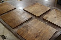 Wood Placemats DIY Handmade Wood Chargers by The Wood Grain Cottage Wooden Charger Plates, Wood Plate Chargers, Wooden Chargers, Wooden Plates, Wood Placemats, Diy Cutting Board, Thanksgiving Table Settings, Diy Holz, Christmas Wood