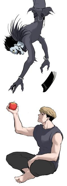 Probably how Sangwoo gets his death note. [Death Note x Killing Stalking Crossover] Anime Meme, Otaku Anime, Manga Anime, Anime Art, Sangwoo Killing Stalking, Arte Do Kawaii, Anime Crossover, Anime Boyfriend, Attack On Titan Anime