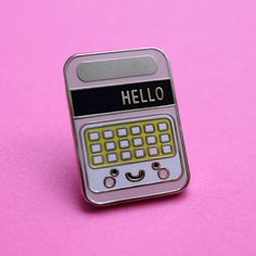 Speak and Spell Pastel Pink Enamel Pin Badge - Tie Pin - Lapel Pin - Flair