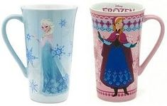Such pretty Disney Store Elsa and Anna coffee mugs! Disney Coffee Mugs, Disney Mugs, Disney Gift, Frozen Merchandise, Mug Design, Movie Gift, Fun Cup, Mom Birthday Gift, Practical Gifts