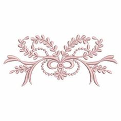 Ace Points Embroidery Design: Heirloom Decor 1.73 inches H x 3.81 inches W