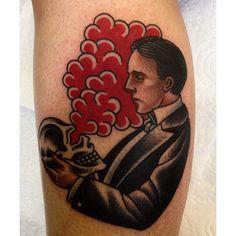 Traditional tattoo. Dapper gentleman tattoo. Skull tattoo. By Lewis Parkin - Newcastle