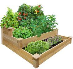 Greenes Tiered Cedar Raised Garden Bed
