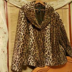 INC faux fur Beautiful A line faux fur jacket never worn INC International Concepts Jackets & Coats Blazers
