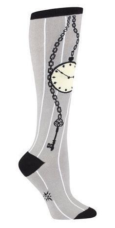 Pocketwatch Knee High Socks from the Sock Drawer in SLO--Daughter wore these to 8th grade dance last night. So cute.