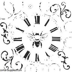 The Crafter's Workshop Stencil - Bee On Time :)-Rebekah Meier Leaf Stencil, Flower Stencils, Workshop, Card Making Designs, Marker Crafts, Stencil Templates, Stencil Patterns, Arts And Crafts Supplies, Card Maker