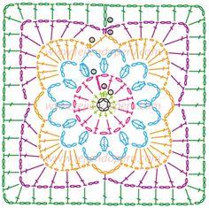 Cómo tejer una blusa con granny cuadrados tejidos a crochet