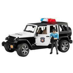 The Jeep Wrangler Rubicon Vehicle With Policeman and Accessories from the Bruder collection. One of our favourite models in the Bruder Commecial Vehicles range is the Bruder Jeep Wrangler Rubicon Police Vehicle With Policeman and Accessories. Jeep Wrangler Rubicon Unlimited, Wrangler Jeep, Jeep Wranglers, Police Truck, Police Cars, Police Vehicles, Police Car Lights, Police Siren, Cars