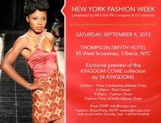 #NYFW #fashion show & #party feat new collection by @54kingdoms & #afro #electronic #music by @greatdjuniverse #muipr #PR #event #tribeca #press #afroSWAG #fall #NYC #marketing
