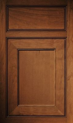 Williamsburg flat panel cabinet doors have a traditional style ...
