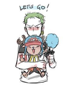 Tony Tony Chopper Roronoa Zoro Pirate Hunter One Piece