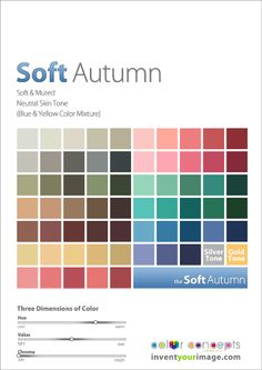 Colors for a Soft Autumn Women www.inventyourimage.com Copyright © 2011 No part of these materials may be  reproduced, distributed or transmitted in any form or by any means  unless prior written permission is given by  Lisa K. Ford- CEO and Founder of  Invent Your Image, LLC