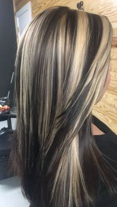 Chunky Blonde Highlights, Brown Blonde Hair, Hair Color Highlights, Highlights 2017, Chocolate Highlights, Blonde Highlights On Dark Hair All Over, Red Hair, Blonde With Dark, Caramel Highlights