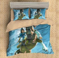 3D Customize The Legend Of Zelda Breath Of The Wild Bedding Set Duvet Cover Set Bedroom Set Bedlinen 1)100% Microfiber,Soft and Comfortable. 2)Environmental Dyeing,Never Lose Color. 3)2017 Newest Design,The Legend Of Zelda Breath Of The Wild,Fashion and Personality.