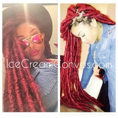 Faux red locs
