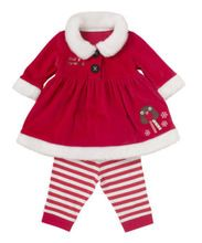 New Baby Child Toddler Christmas Girls Coat + Pants 2PCS Clothes Set Outfits(China (Mainland))
