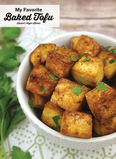 This versatile Baked Tofu can be used in salads, sandwiches, Buddha bowls, and even as an appetizer with dip! Seitan, Tempeh, Tofu Recipes, Vegan Recipes Easy, Whole Food Recipes, Vegetarian Recipes, Cooking Recipes, Keto Recipes, Tofu Dishes