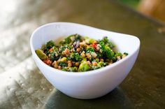Salad Recipe: Toasted Almonds with Quinoa & Kale | via 12 Tomatoes