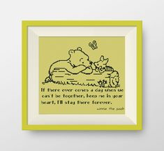 BUY 2, GET 1 FREE! Winnie the Pooh cross stitch pattern, pdf counted cross stitch, Quote cross stitch pattern, I'll stay there forever, P113 by NataliNeedlework on Etsy