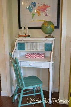 roll top desk painted white