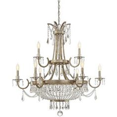 Check out the Savoy House 1-3061-9-60 Claiborne 9 Light Chandelier in Avalite priced at $1,590.00 at Homeclick.com.