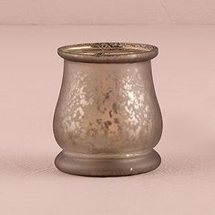 Bell Shaped Glass Tealight Holder